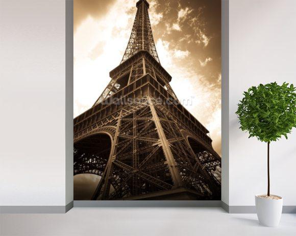 Eiffel tower wallpaper wall mural wallsauce for Eiffel tower wallpaper mural