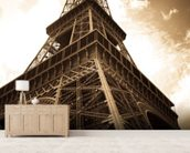 Eiffel Tower mural wallpaper living room preview