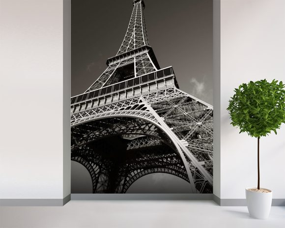 The eiffel tower wallpaper wall mural wallsauce usa for Eiffel tower wallpaper mural