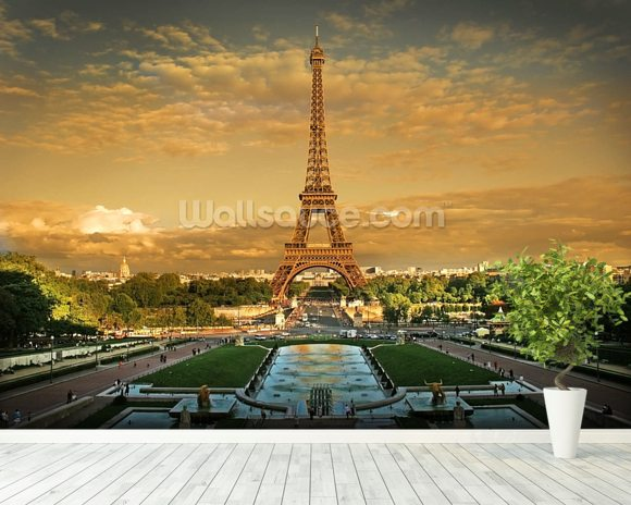 Eiffel Tower Paris Wallpaper Wall Mural Wallsauce Australia