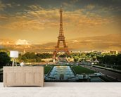 Eiffel Tower Paris wallpaper mural living room preview