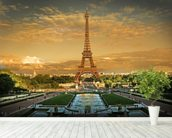 Eiffel Tower Paris wallpaper mural in-room view
