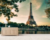 Tour Eiffel Paris France mural wallpaper living room preview