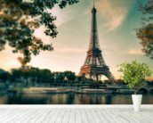 Tour Eiffel Paris France mural wallpaper in-room view