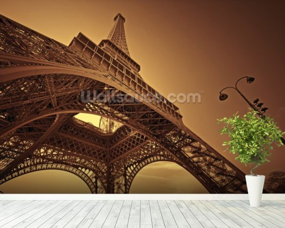 Paris mural wallpaper room setting