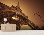 Paris mural wallpaper living room preview