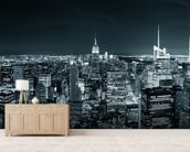New York Manhattan Skyline wallpaper mural living room preview