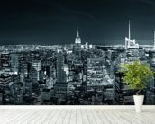 New York Manhattan Skyline wallpaper mural in-room view