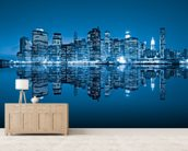 Manhattan, New York City wall mural living room preview