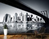 New York Black & White mural wallpaper kitchen preview
