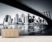 New York Black & White mural wallpaper living room preview