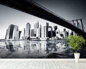 New York Black & White mural wallpaper in-room view