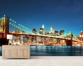 New york wallpaper wall murals wallsauce for Brooklyn bridge mural wallpaper