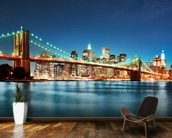 Brooklyn Bridge at Night wall mural kitchen preview