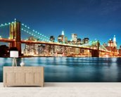 Brooklyn Bridge at Night wall mural living room preview