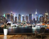 New York - Manhattan Skyline at Night wallpaper mural kitchen preview