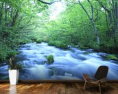 Spring Forest River mural wallpaper kitchen preview