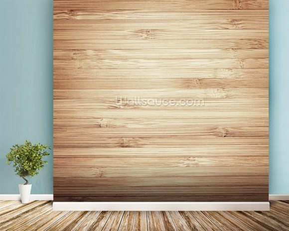 Wood mural wallpaper room setting