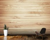 Wood mural wallpaper kitchen preview