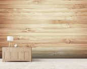Wood mural wallpaper living room preview
