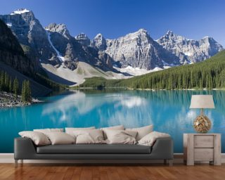 Lake Moraine in Banff National Park Wallpaper Wall Murals