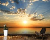 Sea View Sunset mural wallpaper kitchen preview