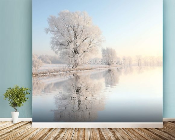Frost wall mural room setting