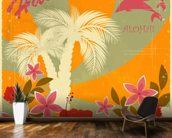 Vintage Hawaiian mural wallpaper kitchen preview