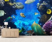 Coral Colony wall mural living room preview