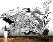 Tattoo - Dragon Sketch wall mural kitchen preview