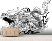 Tattoo - Dragon Sketch wall mural living room preview
