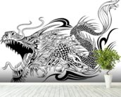 Tattoo - Dragon Sketch wall mural in-room view