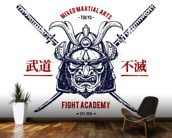 Tattoo - Japanese Warrior wallpaper mural kitchen preview