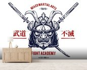 Tattoo - Japanese Warrior wallpaper mural living room preview