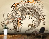 Tattoo Art - Dragon Illustration wall mural kitchen preview