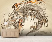 Tattoo Art - Dragon Illustration wall mural living room preview