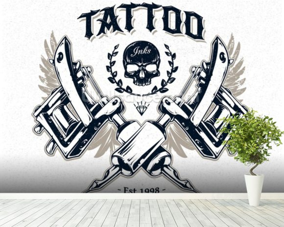 Tattoo studio wallpaper wall mural wallsauce usa for Back mural tattoo designs