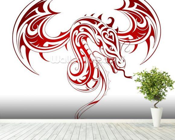 Dragon Tattoo Wallpaper Wall Mural