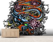 Japanese Dragon wall mural living room preview