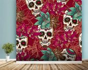 Tattoo - Skull Hearts and Flowers wall mural in-room view