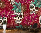 Tattoo - Skull Hearts and Flowers wall mural kitchen preview