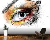 Tattoo - Eye Butterfly wall mural kitchen preview