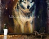 Wolf in the Night wall mural kitchen preview