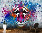 Tiger Art mural wallpaper kitchen preview