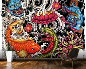 Tattoo mural wallpaper kitchen preview