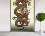 Asian Dragon Tattoo wall mural in-room view