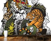 Tattoo - Dragon and Tiger wallpaper mural kitchen preview