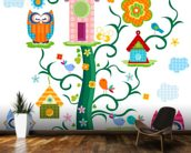 Owls wall mural kitchen preview
