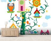 Owls wall mural living room preview