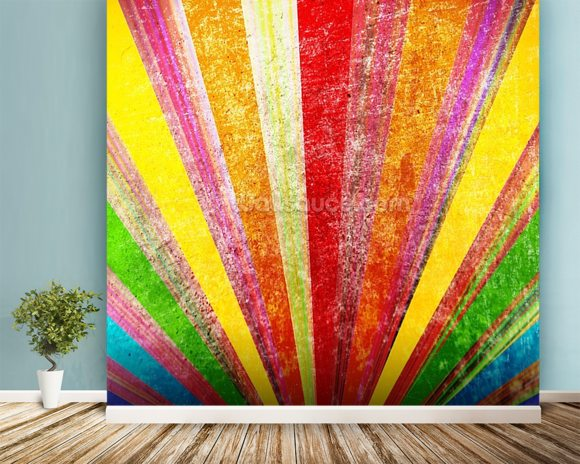Multicolor Magic wall mural room setting